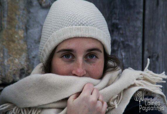 Bonnets femme point de blé pure laine française