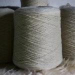 Fil à tricoter pure laine couleur naturelle