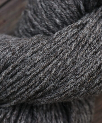 Fil à tricoter laine gris Made in France
