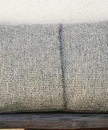 Décoration housse de coussin laine