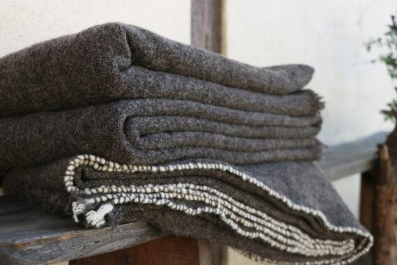 Plaid artisanal de qualité pure laine française