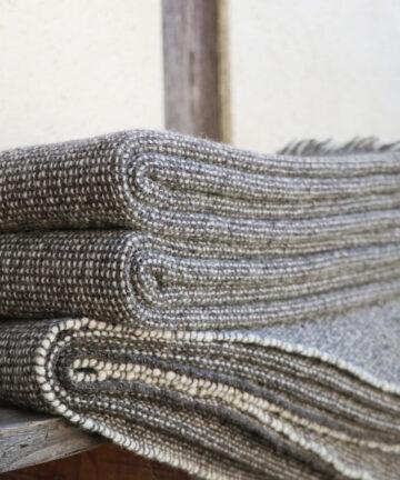 Plaid tissé main pure laine française