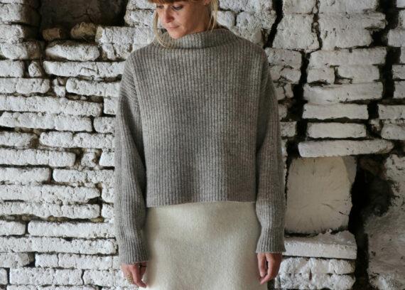 Pull femme pure laine française