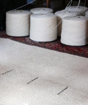 Création tapis pure laine france