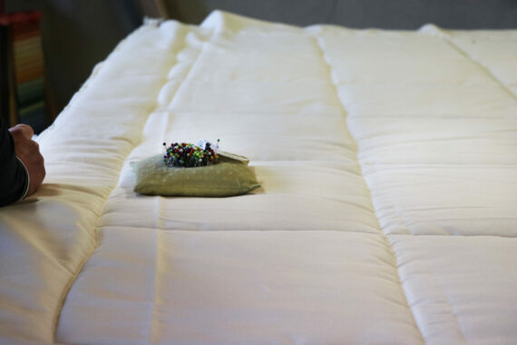 Couette laine française coton bio Agriculture Biologique Made in France