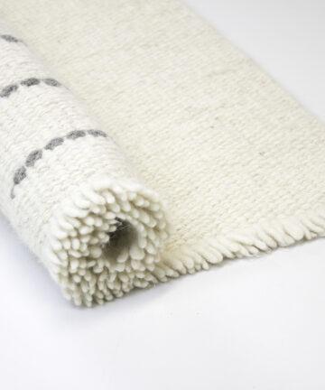 Détail tapis pure laine tissé main