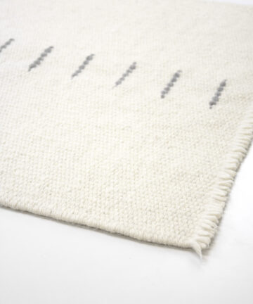Tapis design pure laine locale tissé main Made in France