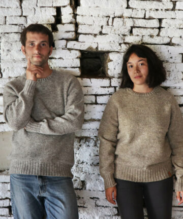Pull artisanal pure laine Made in France