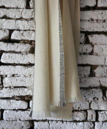 Écharpe pure laine française tissée main