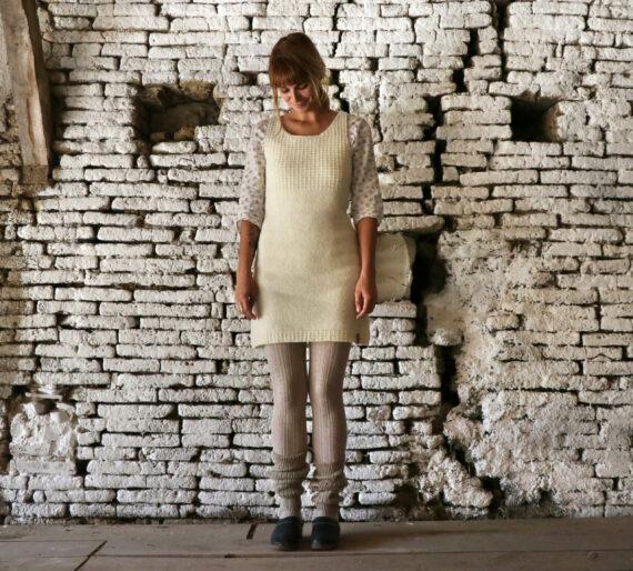 Robe artisanale pure laine française