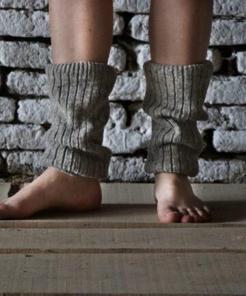 Guêtres grises pure laine française