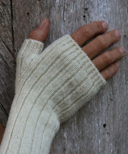 Mitaines blanches pure laine française