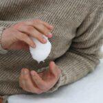 Détail pull homme pure laine française