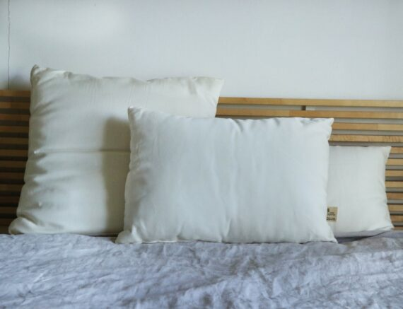 Oreillers pure laine et coton bio Made in France