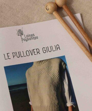 Pullover à tricoter pure laine bio locale