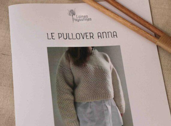 Pull femme col rond laine bio à tricoter
