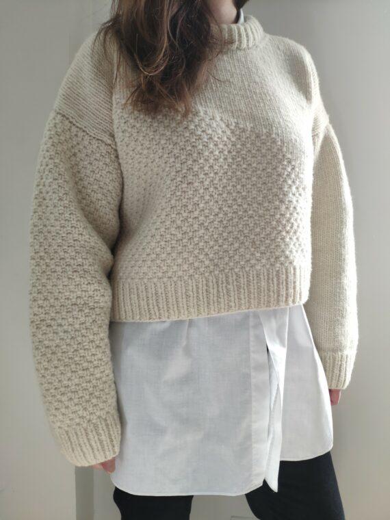 Pull à tricoter pure laine bio française