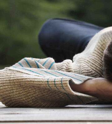 Pull éthique détails contrastants pure laine