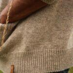 Détail cardigan pure laine de mouton