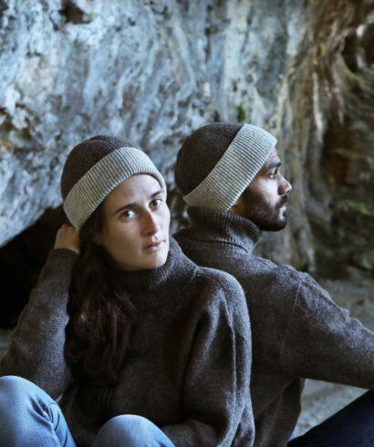 Ensemble pull bonnet pure laine