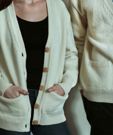 Cardigan pure laine Made in France