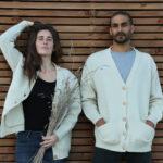 Cardigan pure laine française blanc