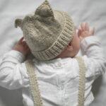 Bonnet bébé à tricoter pure laine