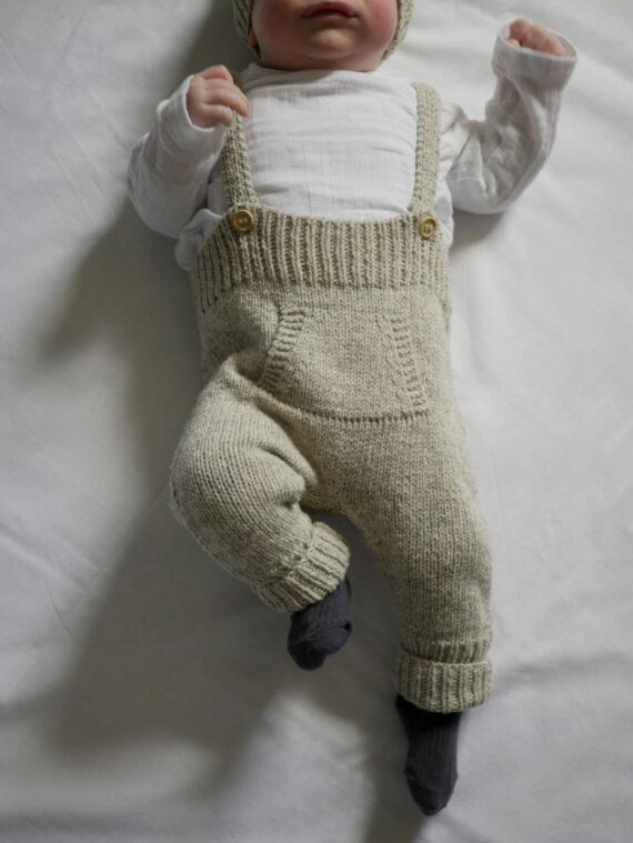 Salopette à tricoter bébé pure laine française