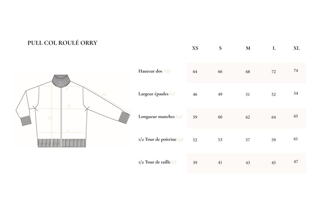Guide des tailles_Pull Orry