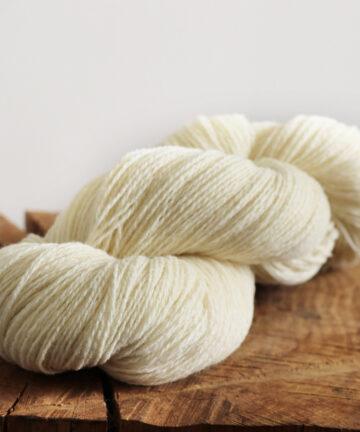 fil à tricoter écru_2fils